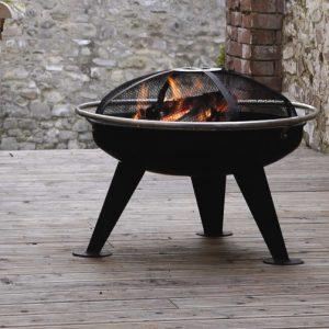 brasero barbecue fonte acier terrasse