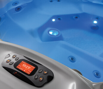 éclairage spa installation option led - spas Caldera UTOPIA