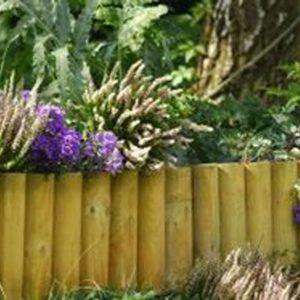 bordure jardin rondin bois naturel