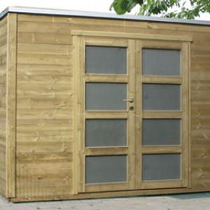 cubique abris jardin bois moderne