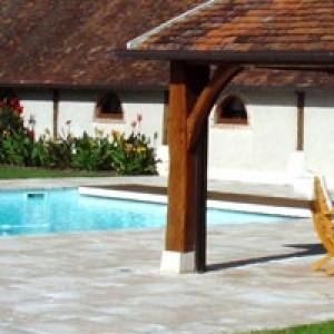 pool house pour se changer apres le bain