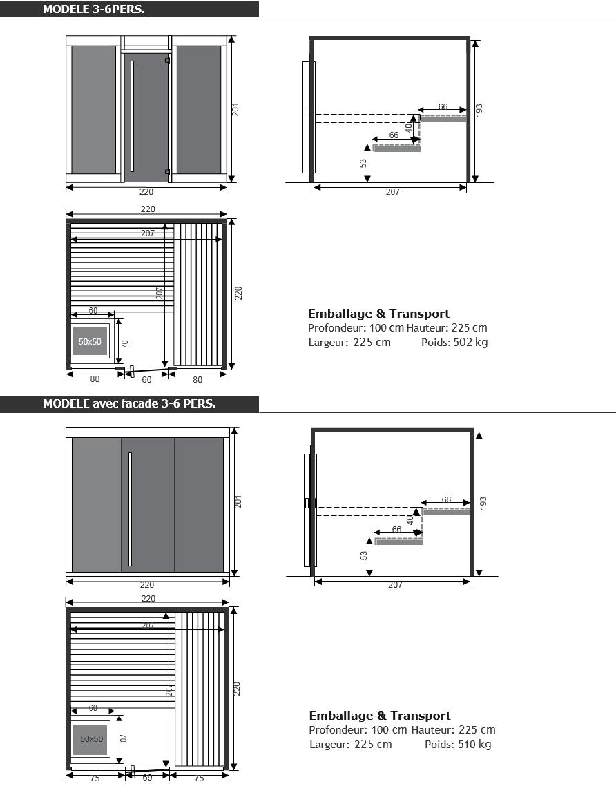 Dimensions du sauna disclosure - Piscine & Jardin - NPdC