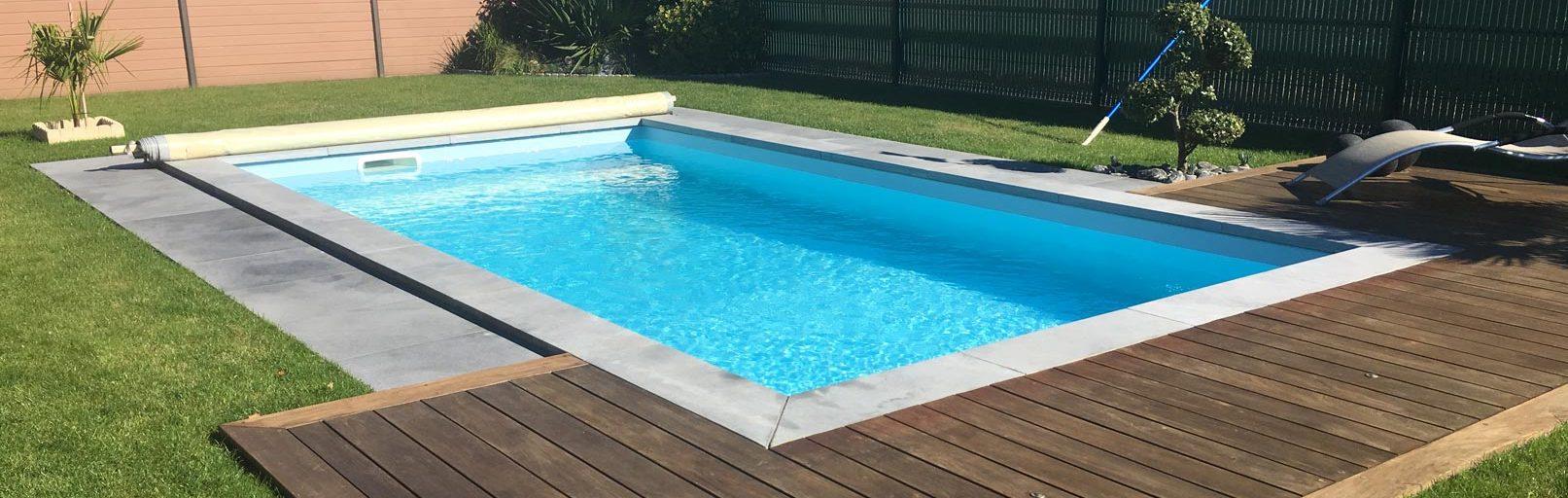 Couverture à barre piscine de sécurité gris clair