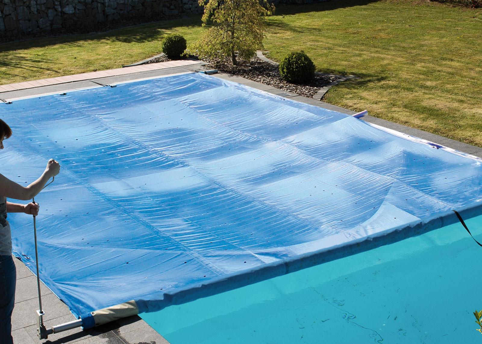 Système de manivelle manuelle pour couverture à barres de piscine