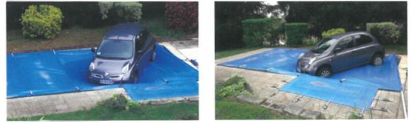 Résistance d'une couverture à barre de piscine SECURIT POOL - APF