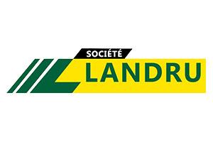 Logo société LANDRU - Assainissement & Aménagements extérieurs